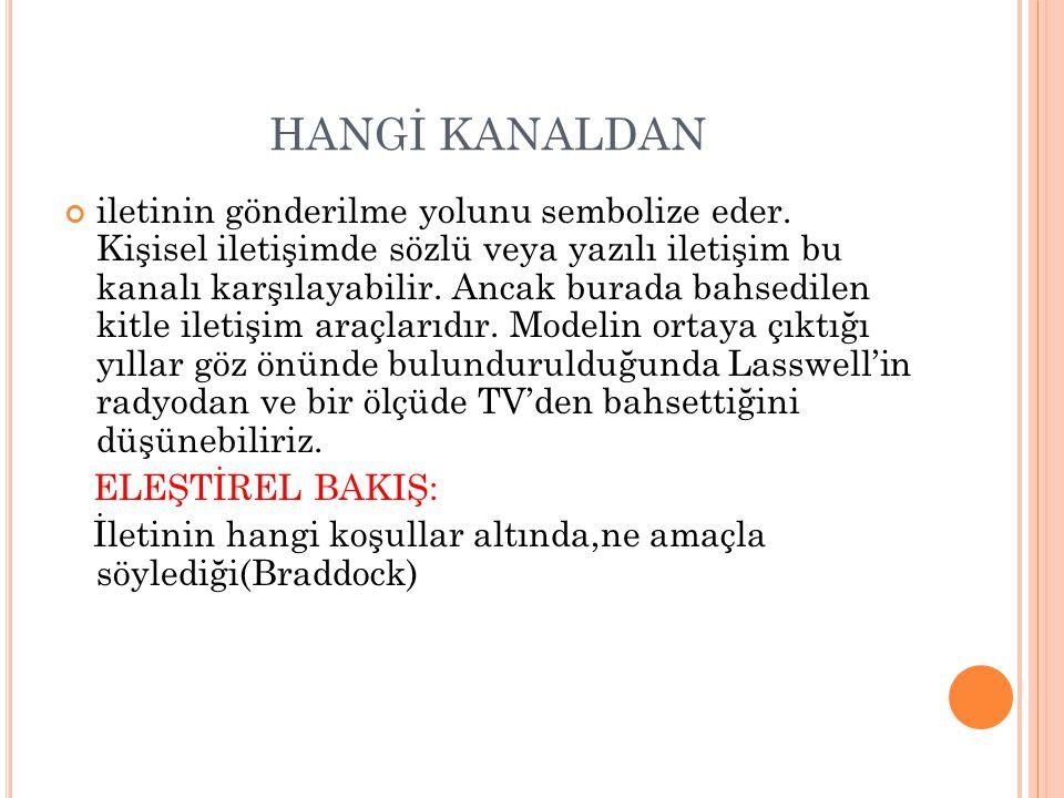 HANGİ KANALDAN