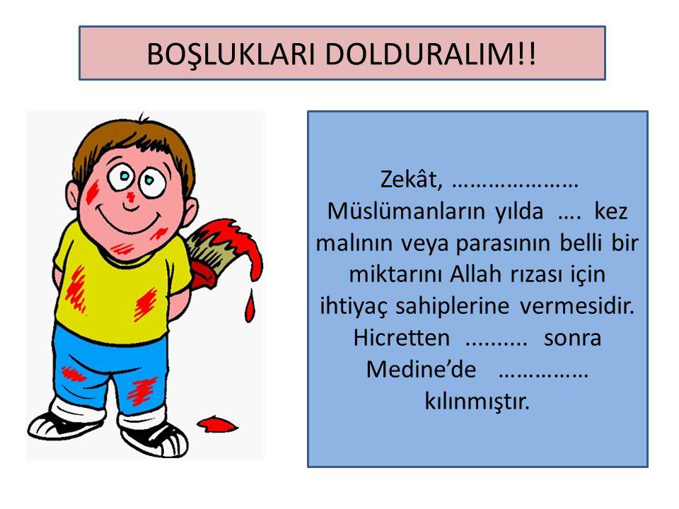 BOŞLUKLARI DOLDURALIM!!