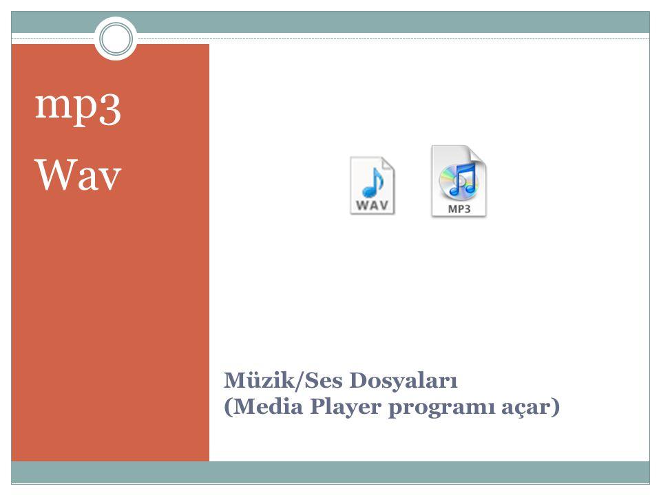 Müzik/Ses Dosyaları (Media Player programı açar)