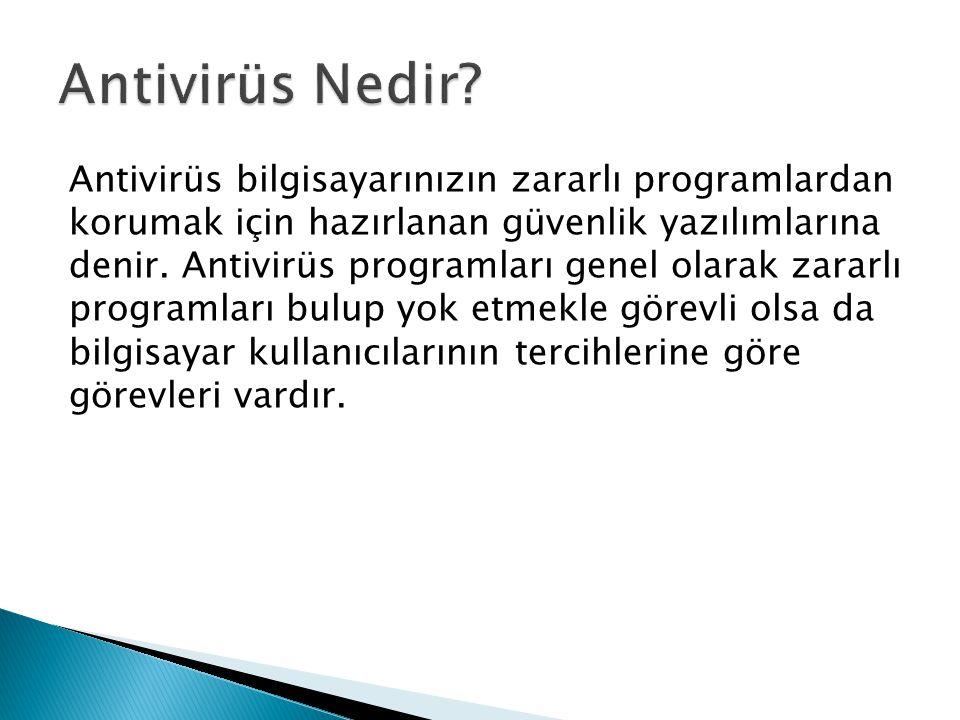 Antivirüs Nedir