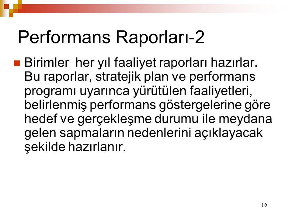 Performans Raporları-2