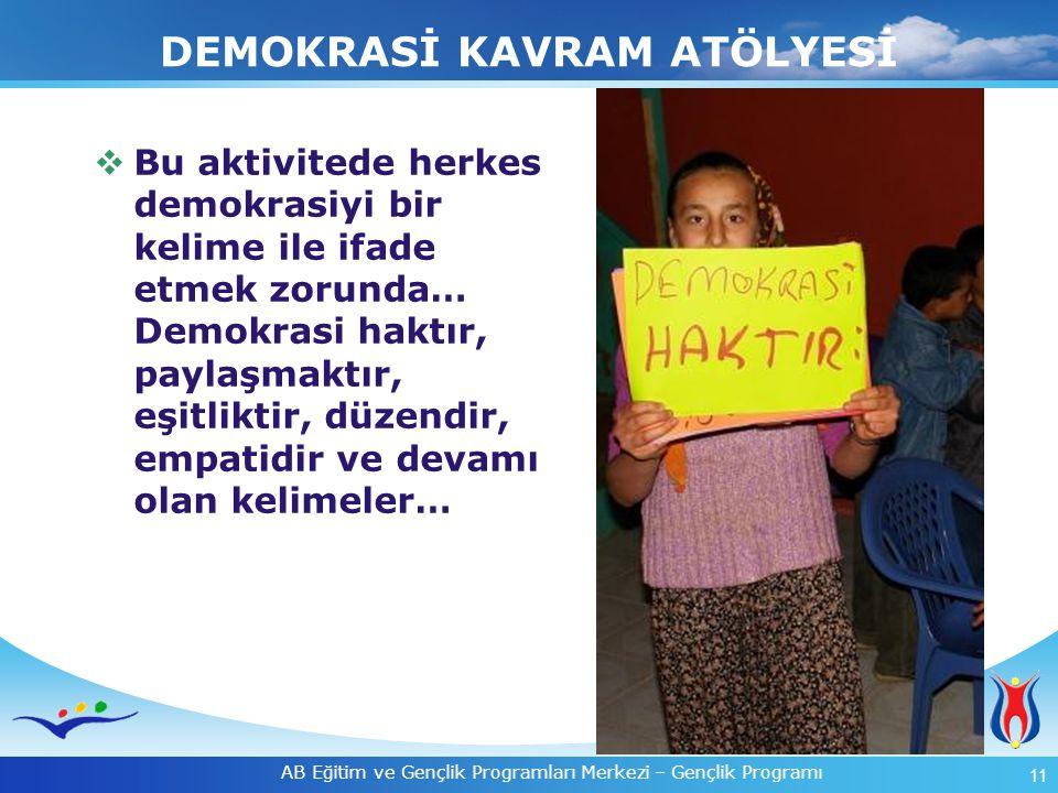 DEMOKRASİ KAVRAM ATÖLYESİ