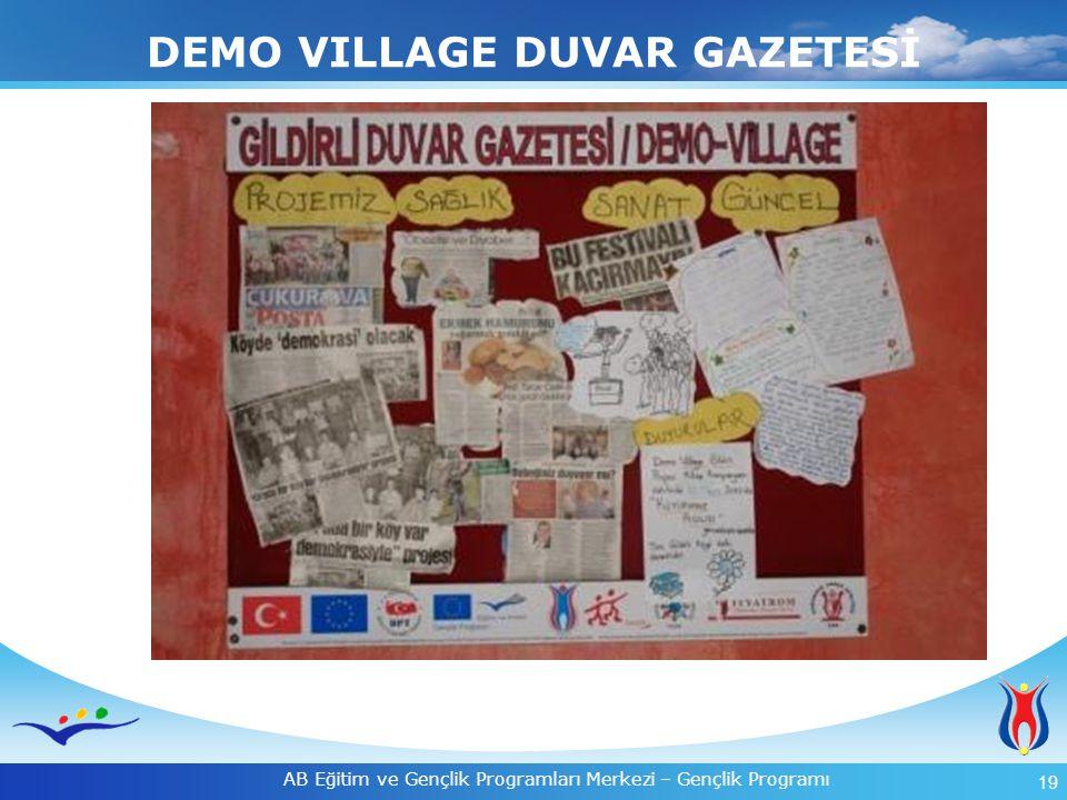 DEMO VILLAGE DUVAR GAZETESİ