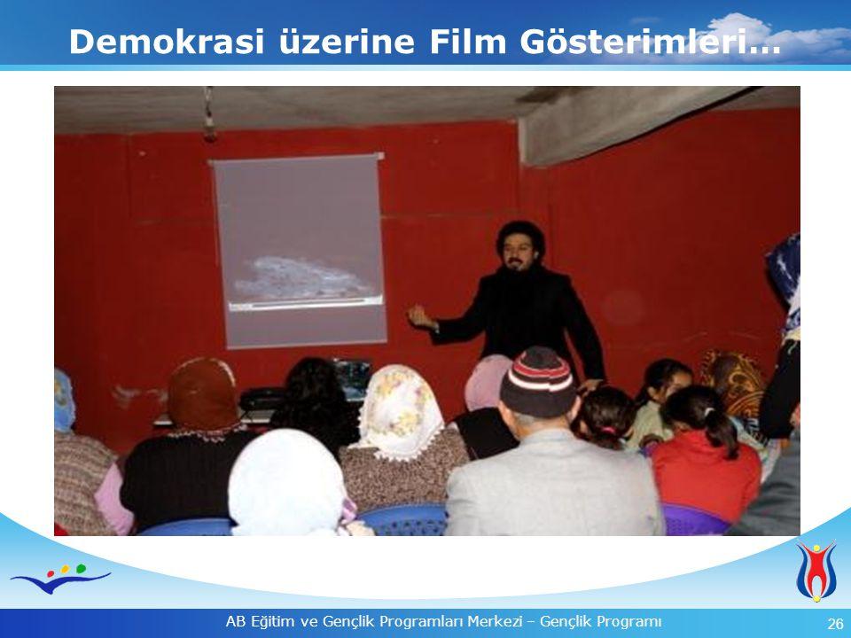 Demokrasi üzerine Film Gösterimleri…