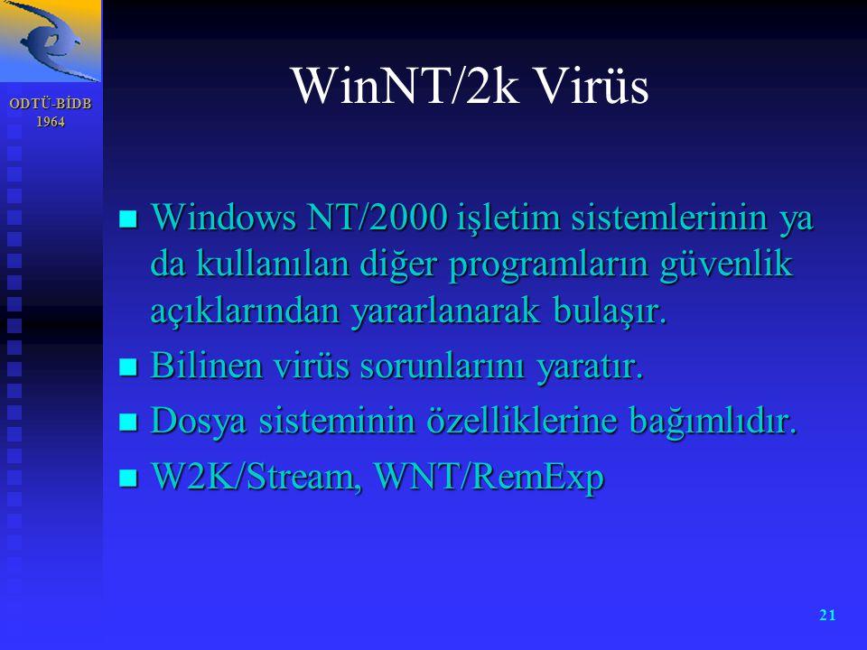 WinNT/2k Virüs ODTÜ-BİDB. 1964.