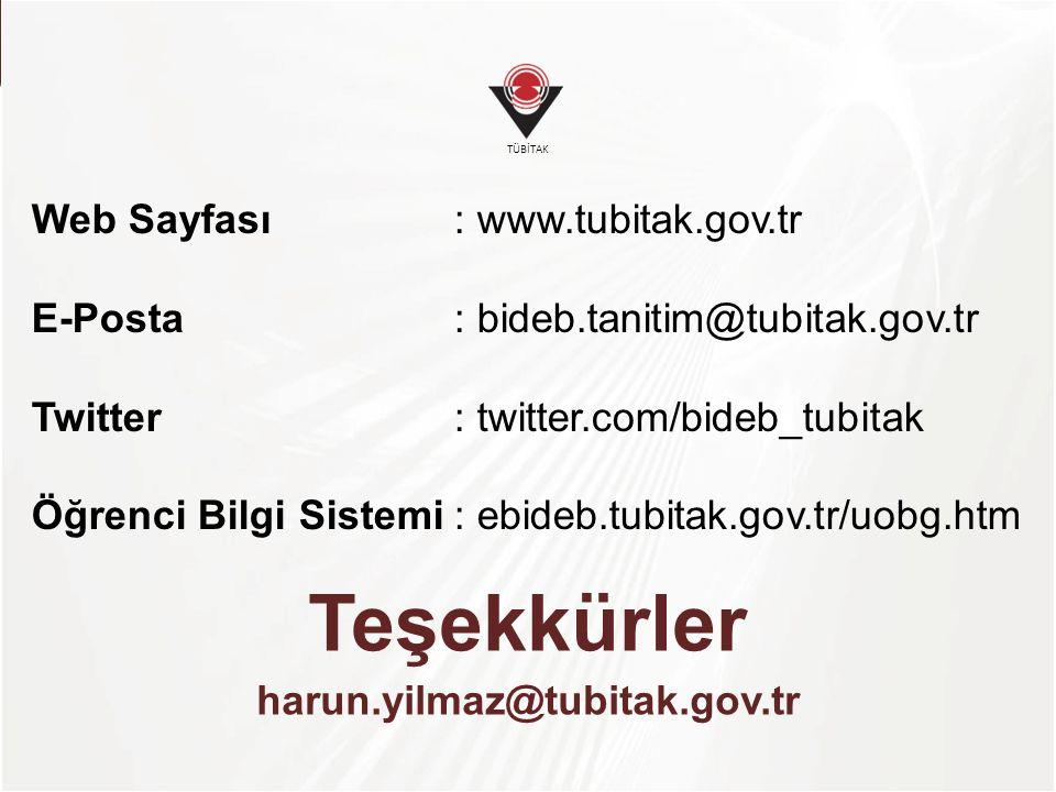 Teşekkürler harun.yilmaz@tubitak.gov.tr