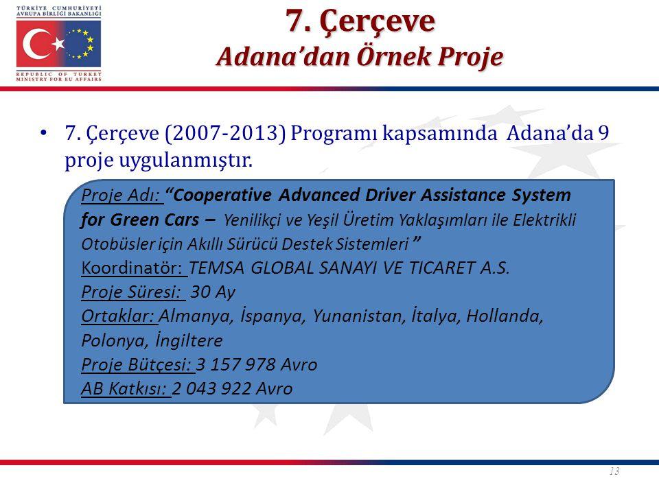 7. Çerçeve Adana'dan Örnek Proje