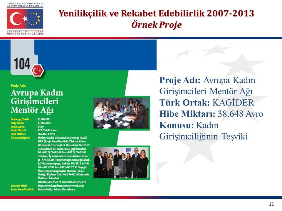Yenilikçilik ve Rekabet Edebilirlik 2007-2013