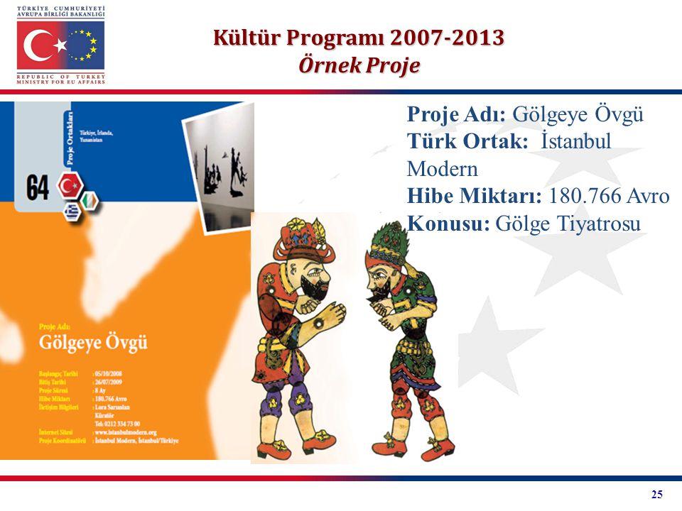 Kültür Programı 2007-2013 Örnek Proje