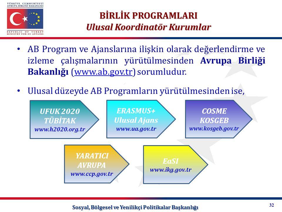 Ulusal Koordinatör Kurumlar