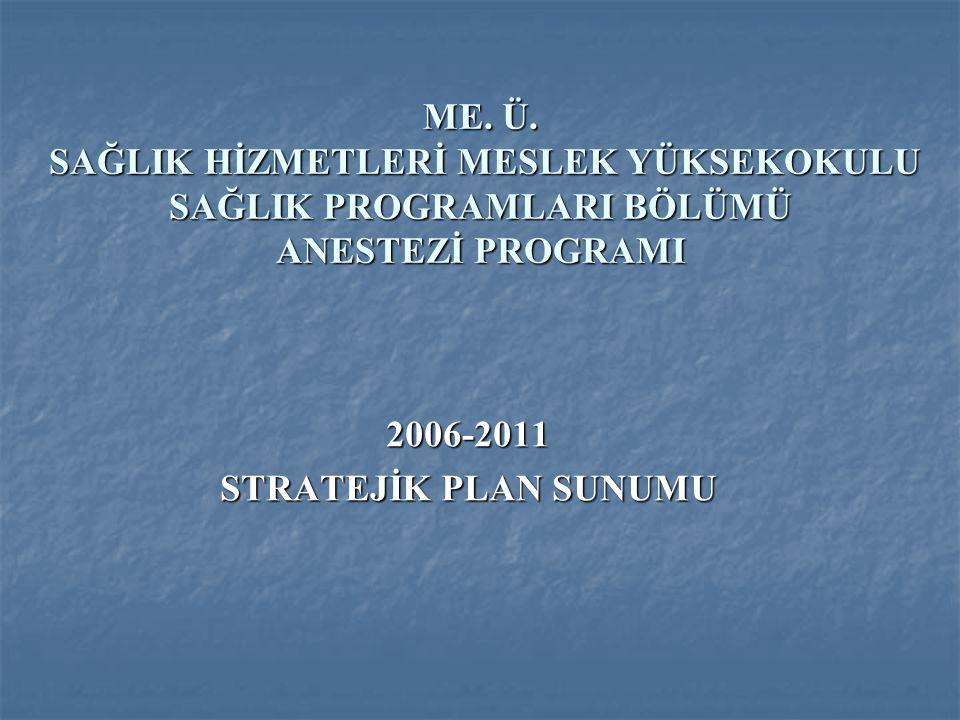 2006-2011 STRATEJİK PLAN SUNUMU