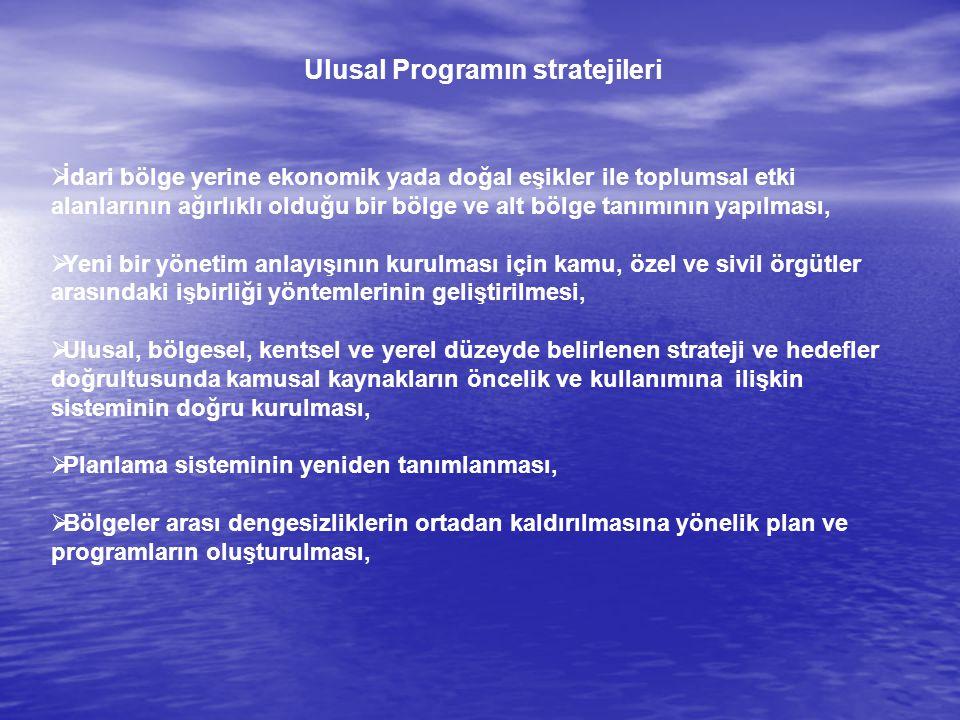 Ulusal Programın stratejileri