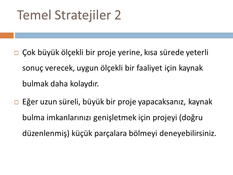 Temel Stratejiler 2