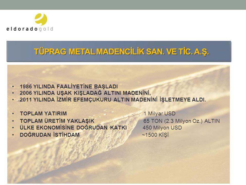 TÜPRAG METAL MADENCİLİK SAN. VE TİC. A.Ş.