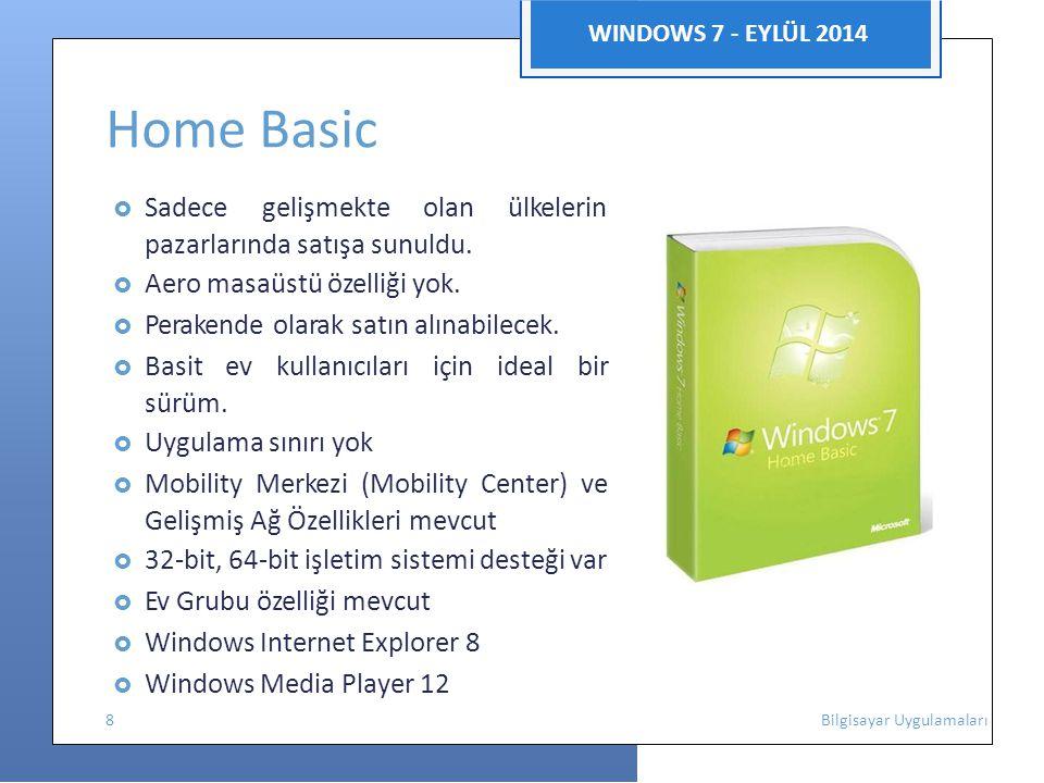Home Basic pazarlarında satışa sunuldu. sürüm.