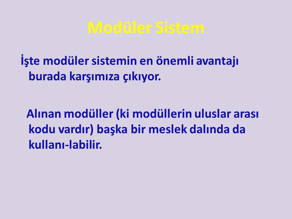 Modüler Sistem