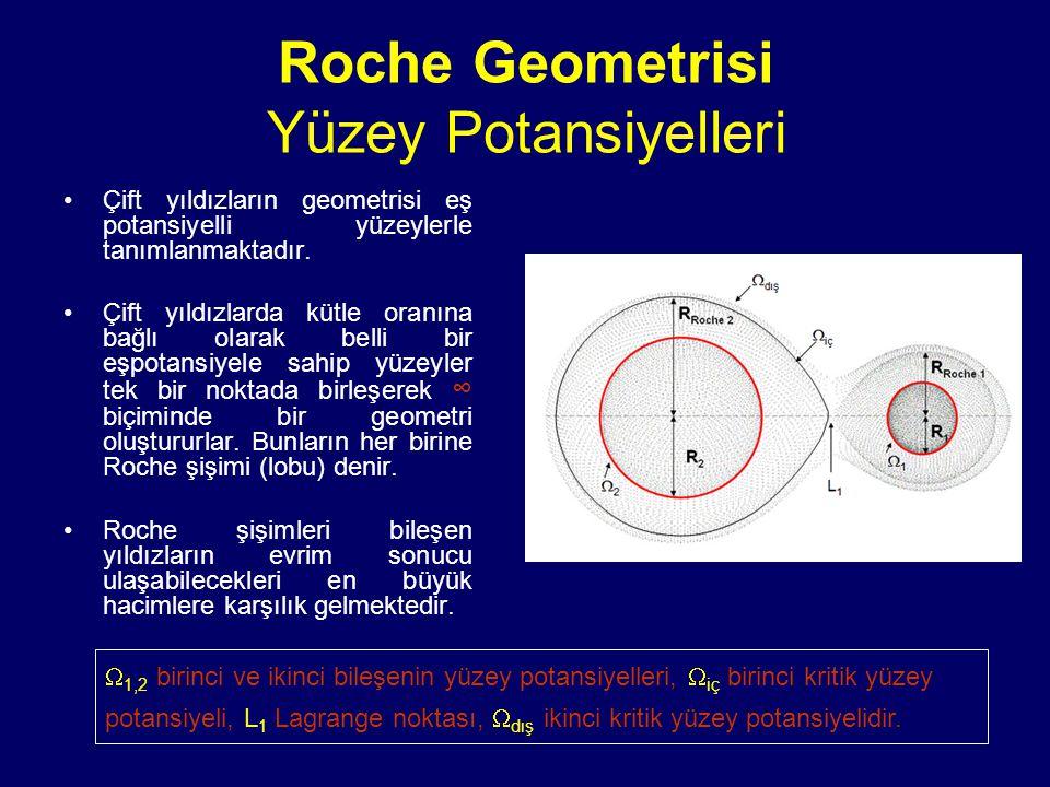 Roche Geometrisi Yüzey Potansiyelleri