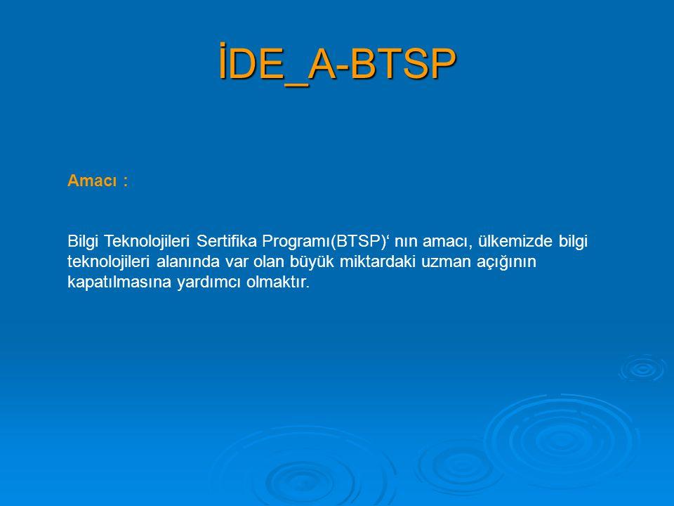 İDE_A-BTSP Amacı :