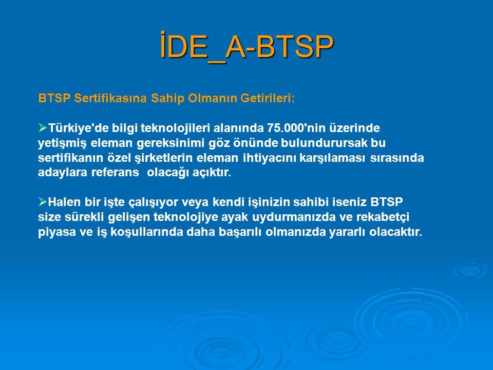 İDE_A-BTSP BTSP Sertifikasına Sahip Olmanın Getirileri: