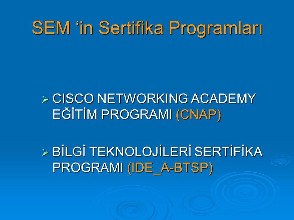 SEM 'in Sertifika Programları