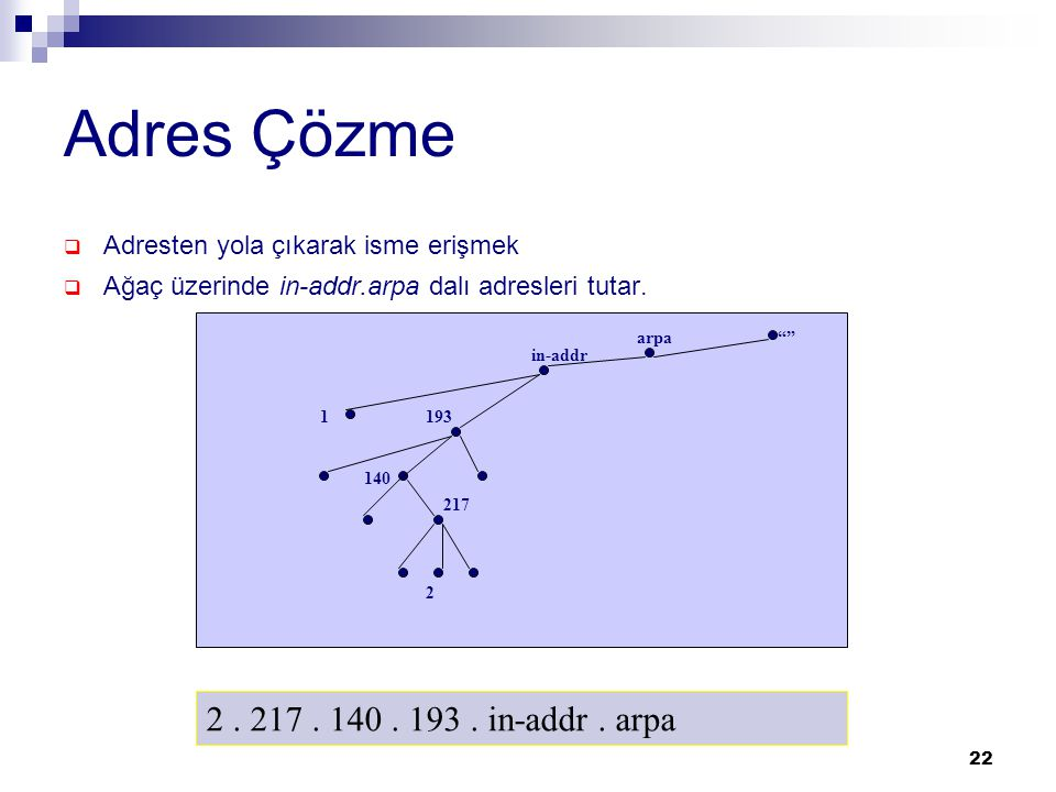Adres Çözme 2 . 217 . 140 . 193 . in-addr . arpa