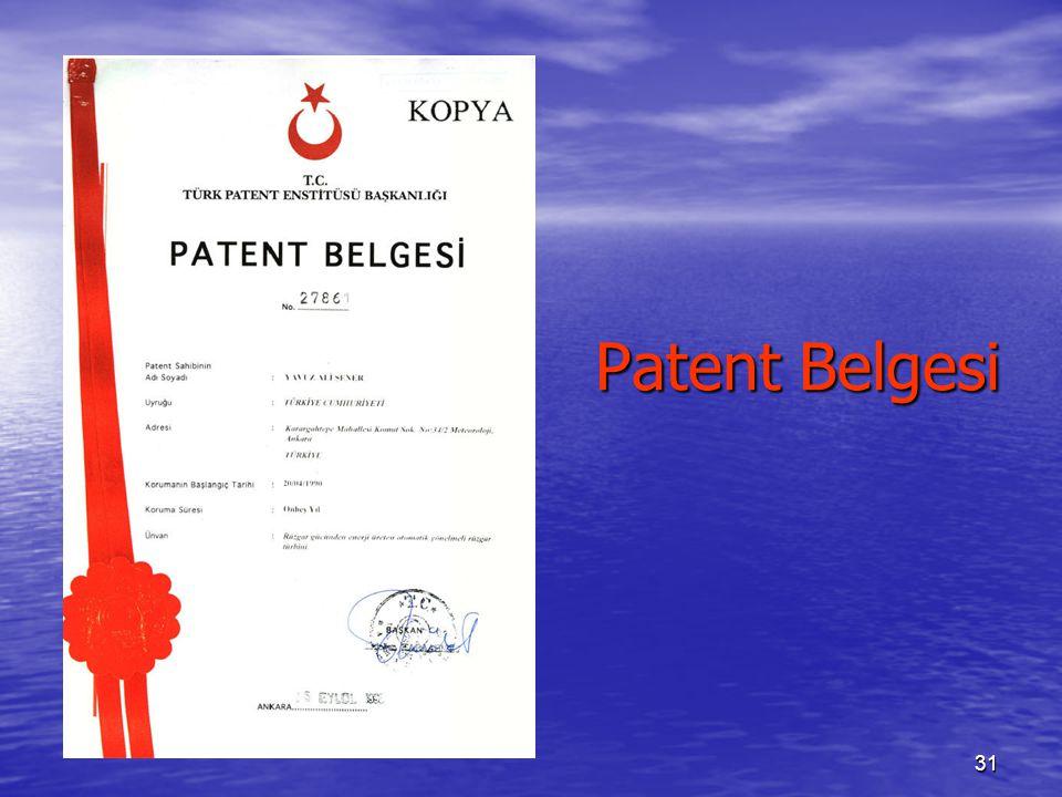 Patent Belgesi