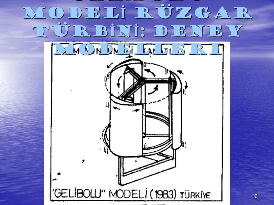 GELİBOLU MODELİ RÜZGAR TÜRBİNİ: Deney Modelleri
