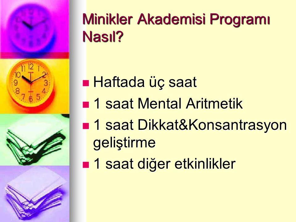 Minikler Akademisi Programı Nasıl