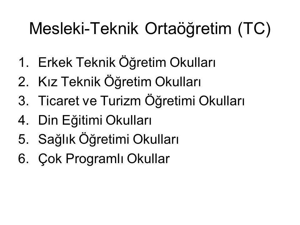 Mesleki-Teknik Ortaöğretim (TC)