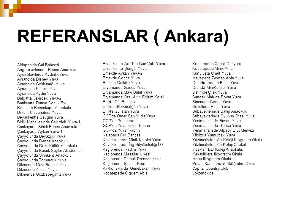 REFERANSLAR ( Ankara) Elvankentte Adl.Tes.Guc.Vak. Yuva