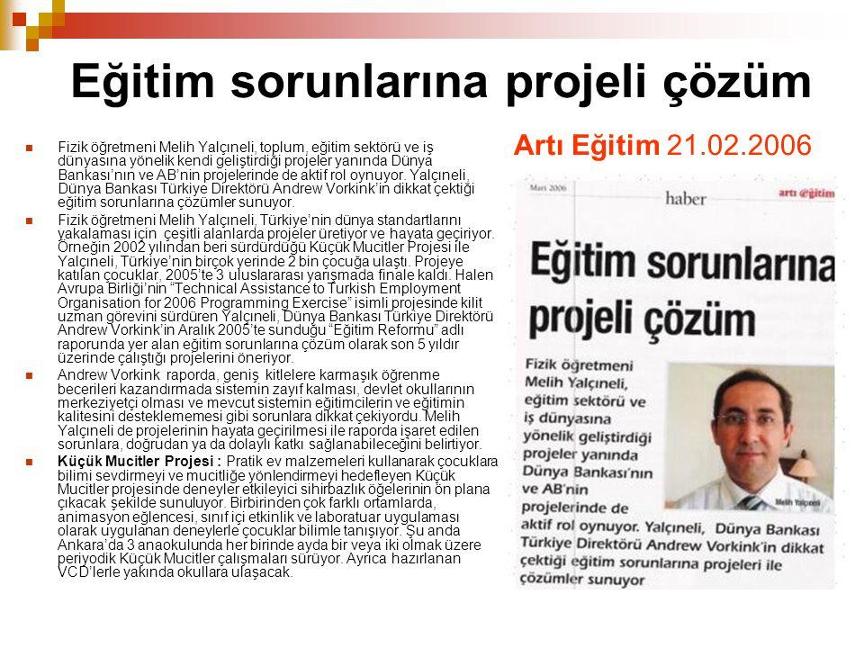 Eğitim sorunlarına projeli çözüm Artı Eğitim 21.02.2006