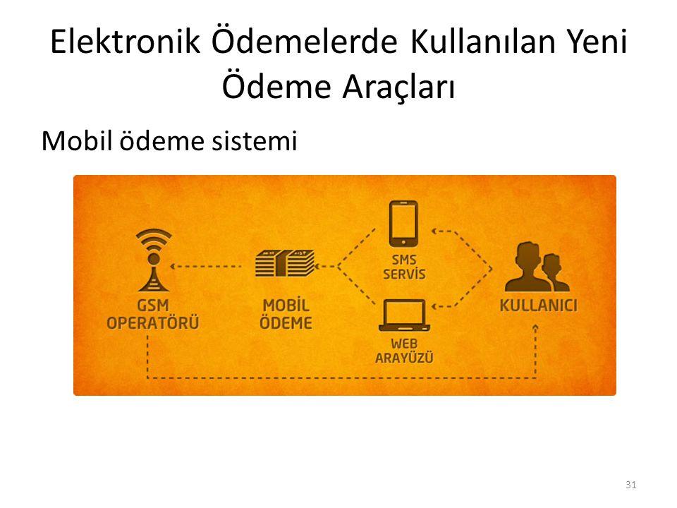 Elektronik Ödemelerde Kullanılan Yeni Ödeme Araçları