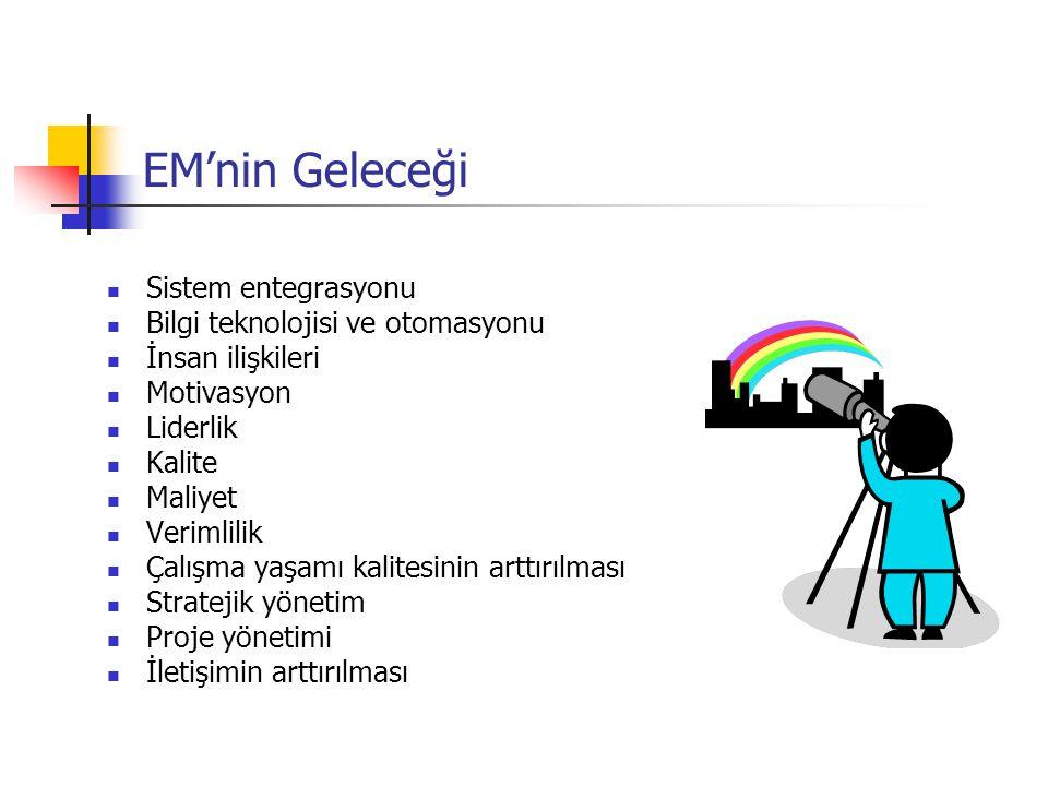 EM'nin Geleceği Sistem entegrasyonu Bilgi teknolojisi ve otomasyonu