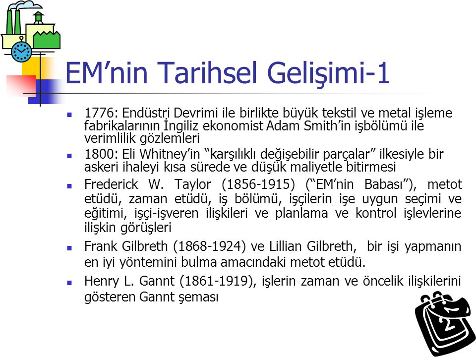 EM'nin Tarihsel Gelişimi-1