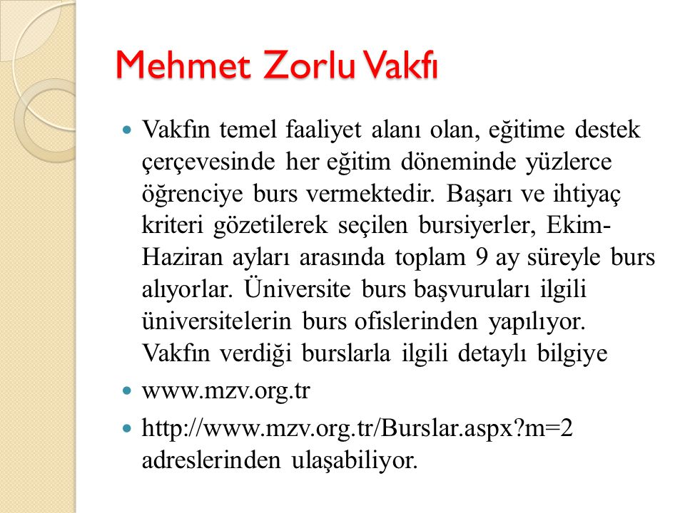 Mehmet Zorlu Vakfı