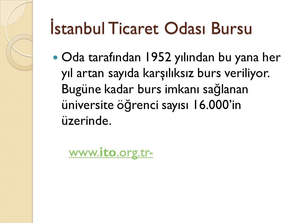 İstanbul Ticaret Odası Bursu