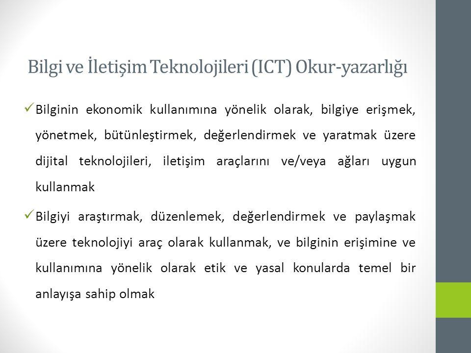 Bilgi ve İletişim Teknolojileri (ICT) Okur-yazarlığı