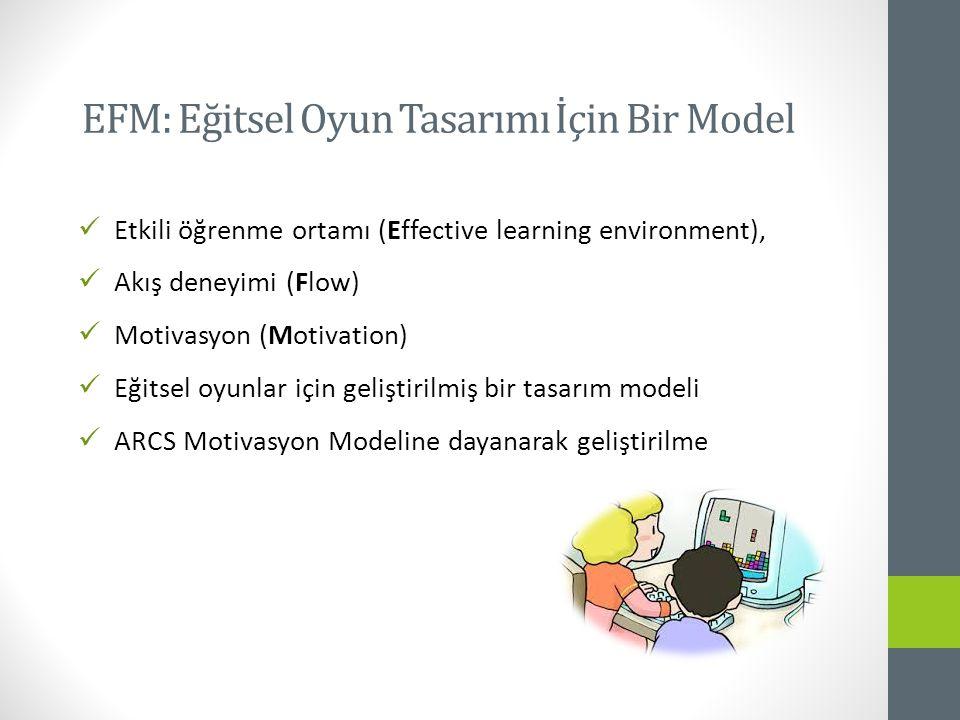 EFM: Eğitsel Oyun Tasarımı İçin Bir Model