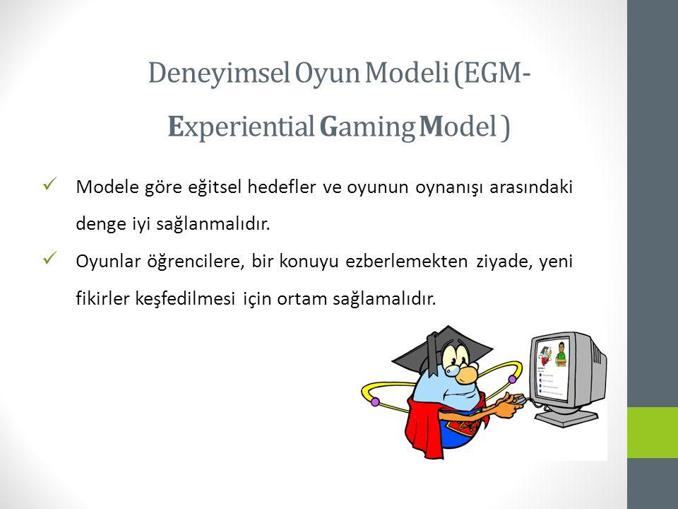 Deneyimsel Oyun Modeli (EGM- Experiential Gaming Model )
