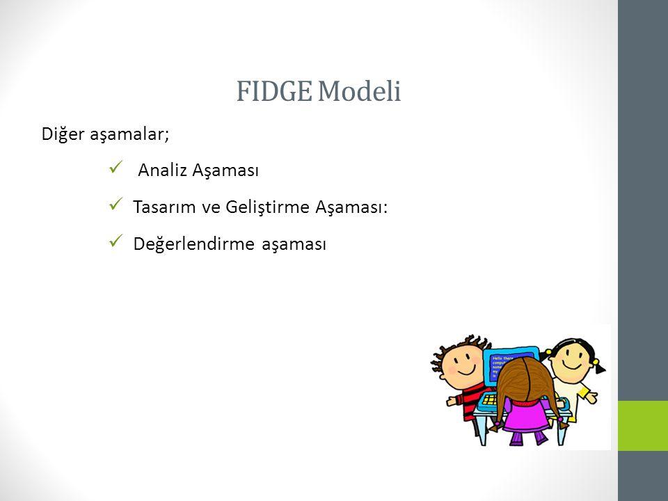 FIDGE Modeli Diğer aşamalar; Analiz Aşaması