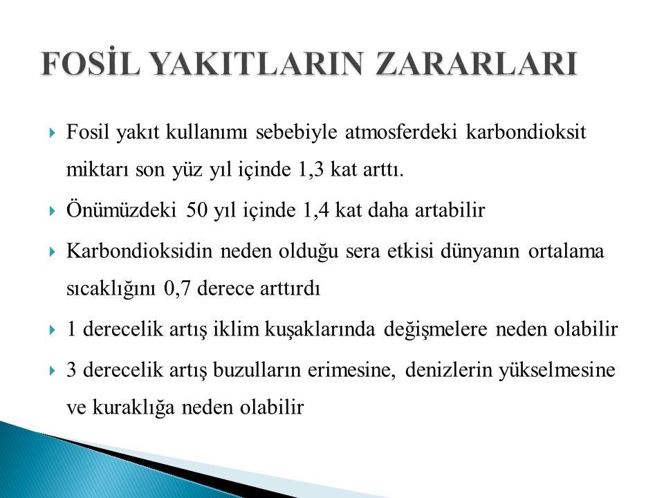 FOSİL YAKITLARIN ZARARLARI