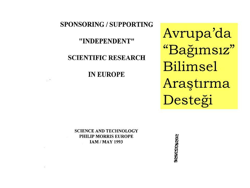 Avrupa'da Bağımsız Bilimsel Araştırma Desteği