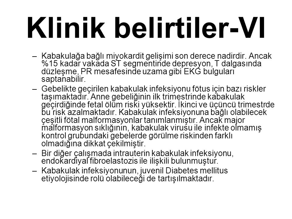 Klinik belirtiler-VI