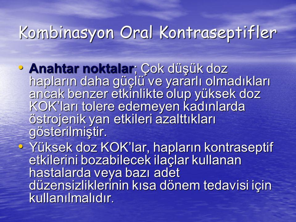 Kombinasyon Oral Kontraseptifler