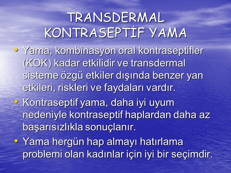 TRANSDERMAL KONTRASEPTİF YAMA