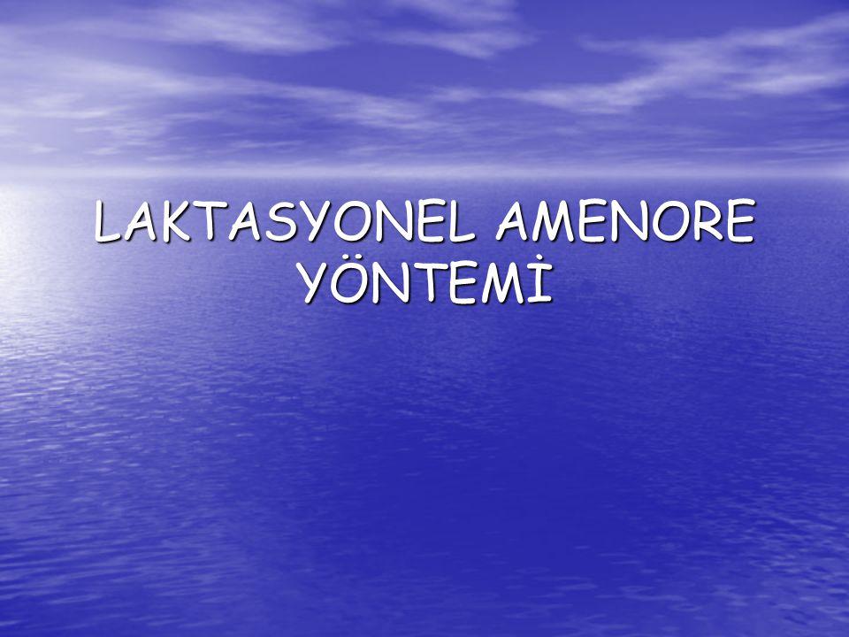 LAKTASYONEL AMENORE YÖNTEMİ