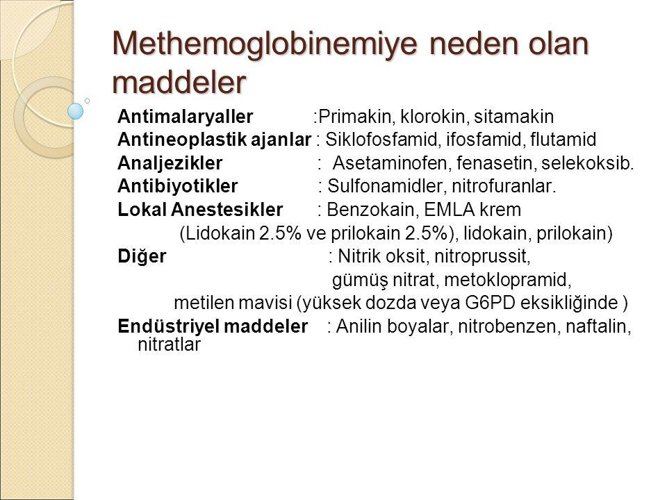 Methemoglobinemiye neden olan maddeler
