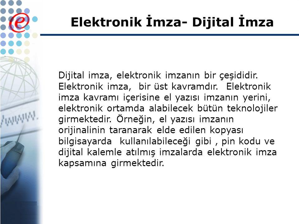 Elektronik İmza- Dijital İmza