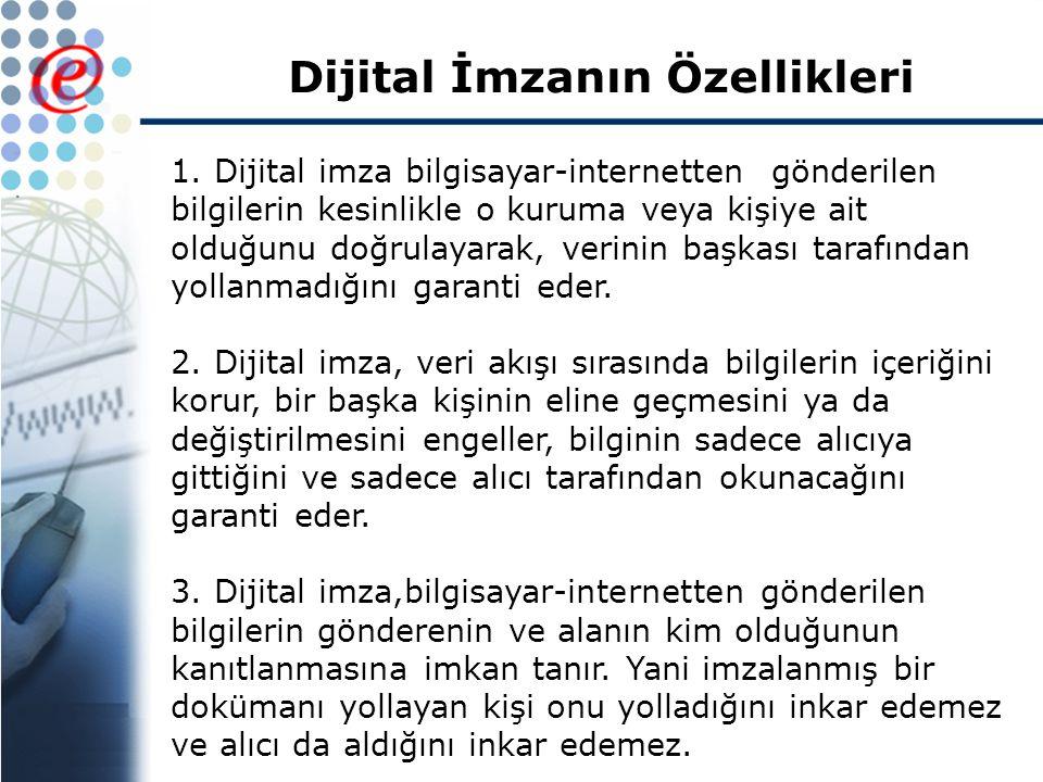 Dijital İmzanın Özellikleri