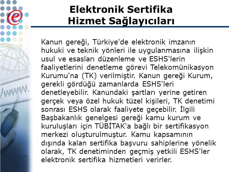 Elektronik Sertifika Hizmet Sağlayıcıları